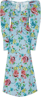 Prabal Gurung Floral-Print Cotton-Blend Shirt Dress