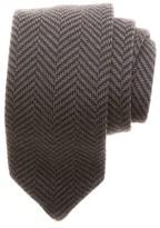 hook + ALBERT Men's Herringbone Knit Wool Tie
