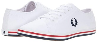 Fred Perry Kingston Twill (White) Men's Shoes