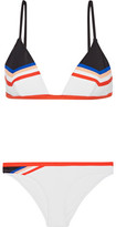 P.E Nation Wild Thing Striped Triangle Bikini