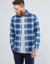 Penfield Riverview Large Check Shirt Button In Regular Fit Brushed Cotton