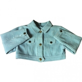 Christian Dior Blue Synthetic Jacket coat