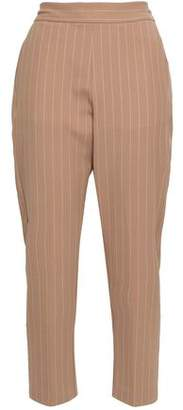 Piazza Sempione Cropped Pinstriped Twill Tapered Pants