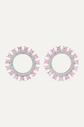 Ileana Makri Pink Sun 18-karat White Gold, Sapphire And Diamond Earrings