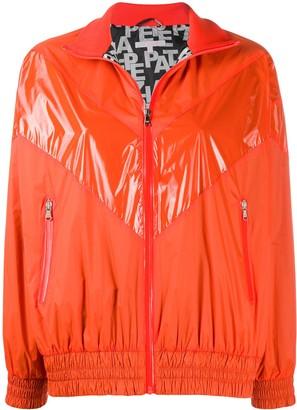 Patrizia Pepe Orange Contrast Bomber Jacket
