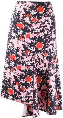 Marni Buds print asymmetric skirt
