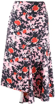 Marni abstract camouflage print skirt
