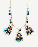Ann Taylor Variegated Seed Bead Statement Necklace
