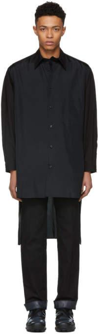 Yohji Yamamoto Black Staff Shirt