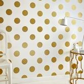 Graham & Brown 56 sq. ft. White and Gold Dotty Wallpaper