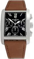 Raymond Weil Men's Automatic Watch with Black Dial Analogue Display and Brown Leather Strap 4875-STC-00209