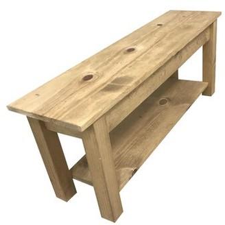 "Loon Peak Della Wood Storage Bench Size: 17"" H x 18"" W x 12"" D"