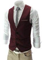 Zicac Men's Top Designed Casual Slim Fit Skinny dress Vest Waistcoat ((Asia Tag 4XL),)