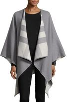 Burberry Checked Lining Merino Wool Cape