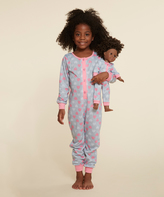 Dollie & Me Gray & Pink Chevron Bodysuit & Doll Outfit - Girls