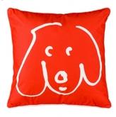 Pin It Crypton Doodle Dog Pillow Persimmon