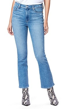 Paige Claudine Ankle Flare Jeans in Seaspray