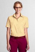Classic Women's Regular Short Sleeve Oxford Shirt-True Blue