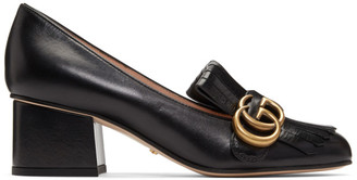 Gucci Black Marmont Mid-Heel Pumps