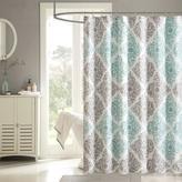 Madison Park Claire Shower Curtain - Aqua