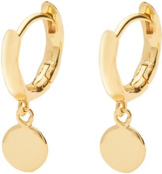 Gorjana Luca Disc Huggie Hoop Earrings