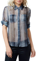 Buffalo David Bitton Dilla Tonal Reptile Print Blouse