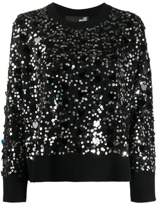 Love Moschino Sequin Embellished Jumper