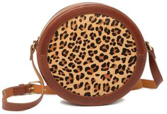 Most Wanted Design by Carlos Souza Cheetah Genuine Calf Hair Crossbody Bag