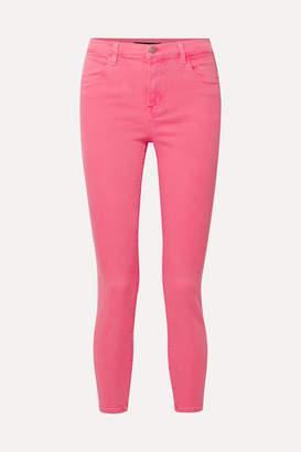 J Brand Alana High-rise Skinny Jeans - Bright pink