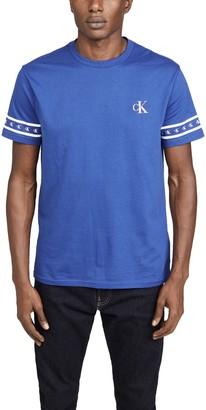 Calvin Klein Jeans Short Sleeve Monogram Sleeve Print Crew Neck Tee