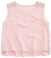 Aqua Girls' Pocket Tank - Sizes S-XL