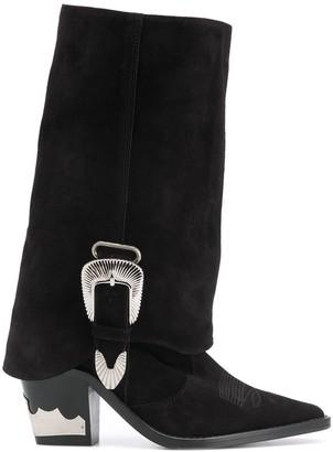 Toga Pulla Cuban-heel buckled boots