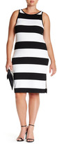 BB Dakota Striped Midi Sheath Dress (Plus Size)
