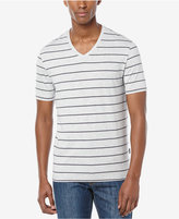 Perry Ellis Men's Wide-Stripe V-Neck T-Shirt