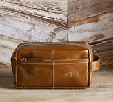 Pottery Barn Beckett Leather Travel Toiletry Case