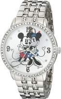 Disney Women's W001832 Analog Display Quartz Silver Watch
