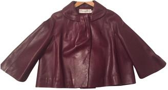 Christian Dior Purple Leather Jackets