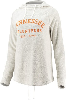 Women's chicka-d Cream Tennessee Volunteers Looped French Cowl Hoodie