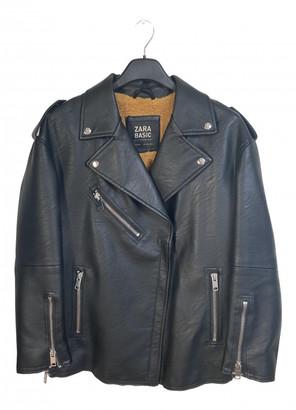 Zara Black Polyester Jackets