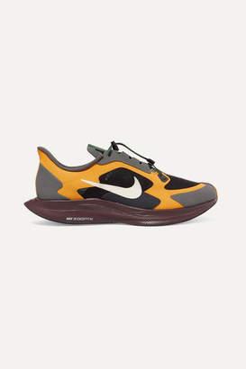 Nike + Gyakusou Zoom Pegasus 35 Turbo Canvas And Rubber Sneakers - Gray