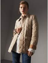 Burberry Check Detail Diamond Quilted Jacket