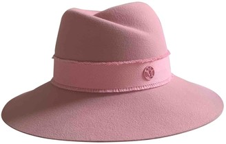 Maison Michel Pink Wool Hats