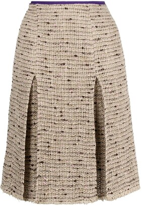 Prada Pre-Owned 2000s Boucle-Knit Skirt