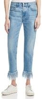 3x1 Fringed Straight Cropped Jeans in Stella