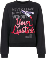 Love Moschino Lipstick sweatshirt