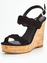 Very Pia Plaited Wedge Sandal - Black