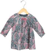Bonpoint Girls' Paisley Print Crew Neck Dress