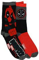 Marvel Deadpool 2 Pack Casual Crew Socks 6-12