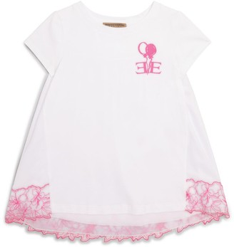 Ermanno Scervino Lace-Panel Logo T-Shirt (4-16 Years)