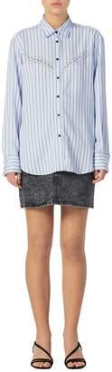Sandro Viala Striped Poplin Shirt